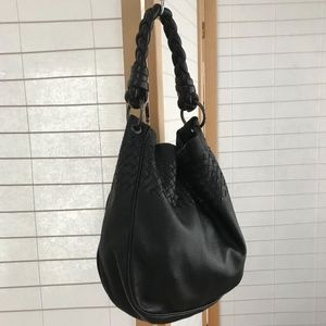 Bottega Veneta Large black braided strap hobo bag